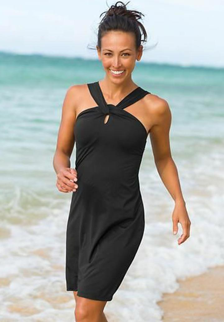 Yaka Detay Sandy Elbise