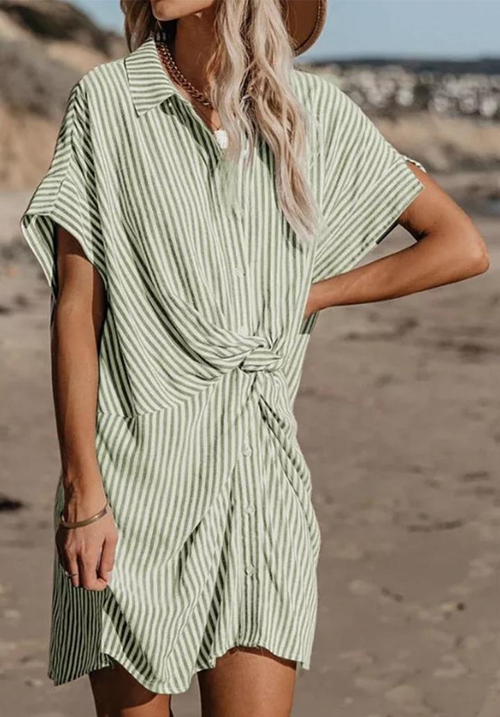 Çizgili Yeni Sezon Elbise-Tunik