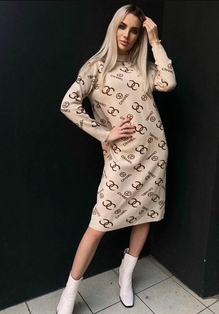 Chanel Yeni Sezon Elbise(Vizon)