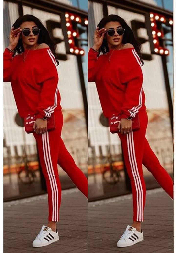 Adidas Yeni Sezon İkili Takım(Kırmızı)