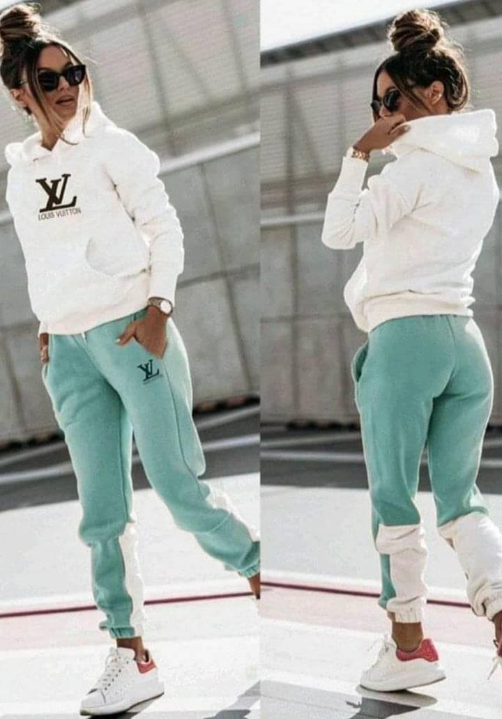 Louis Vuitton Kapşonlu İkili Takım (Yeşil)