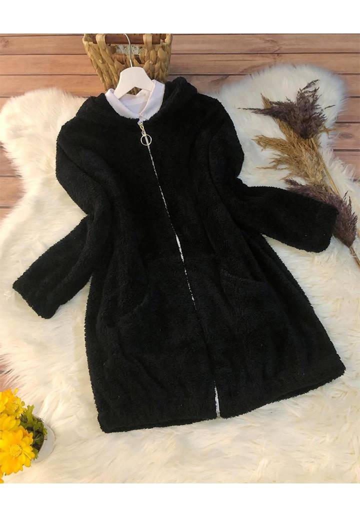 Fermuarlı Cepli WellSoft Ceket (Siyah)