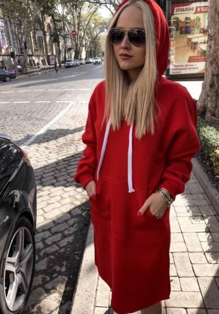 Kangru Cepli Yırtmaçlı Spor Elbise(Kırmızı)