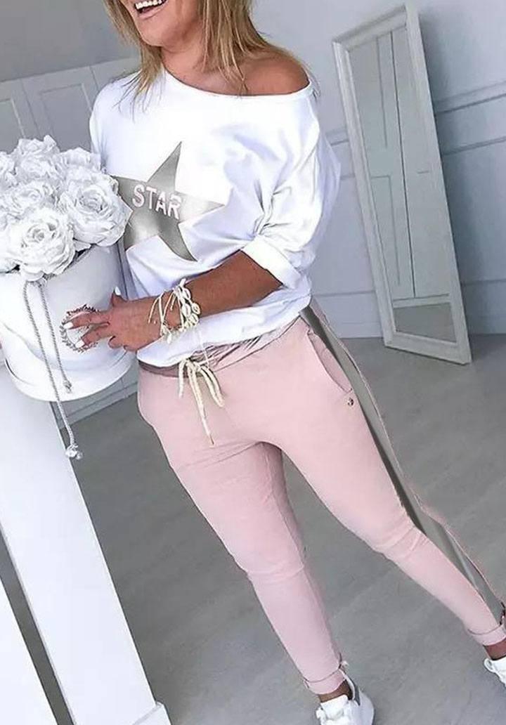 Yıldız bluz pantalon ikili takım