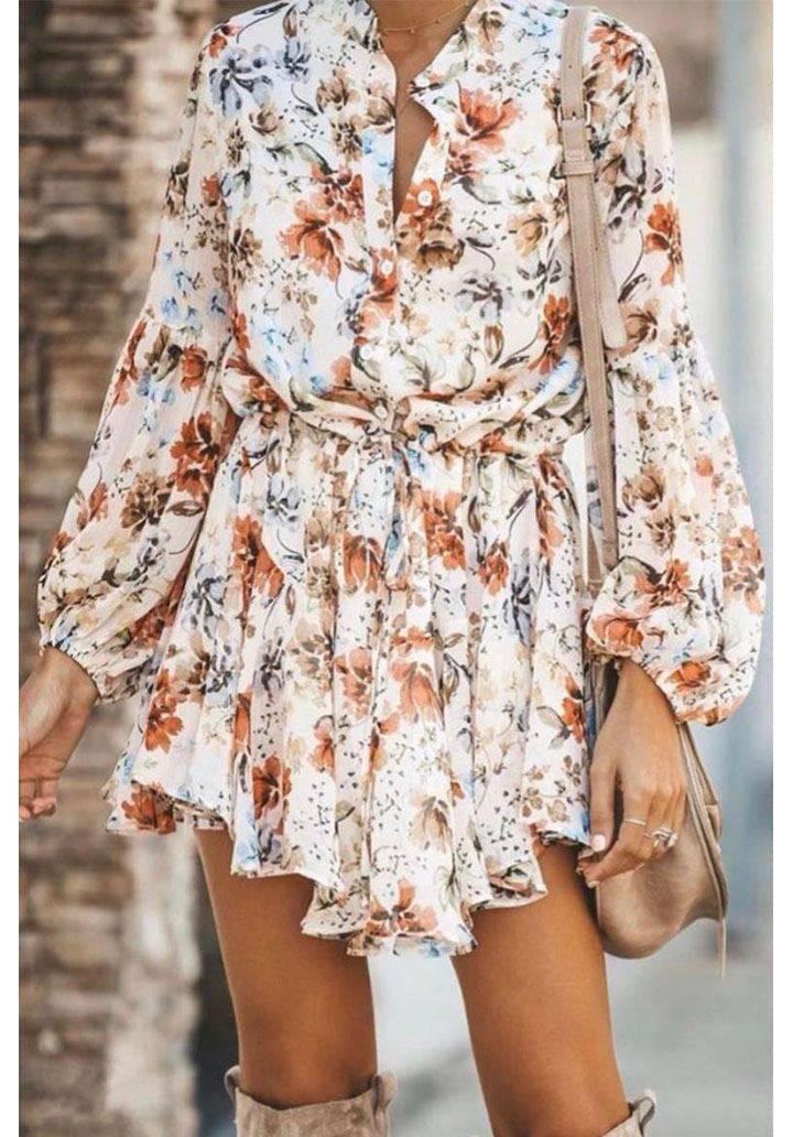 Multi şifon astarlı asimetrik kesim elbise