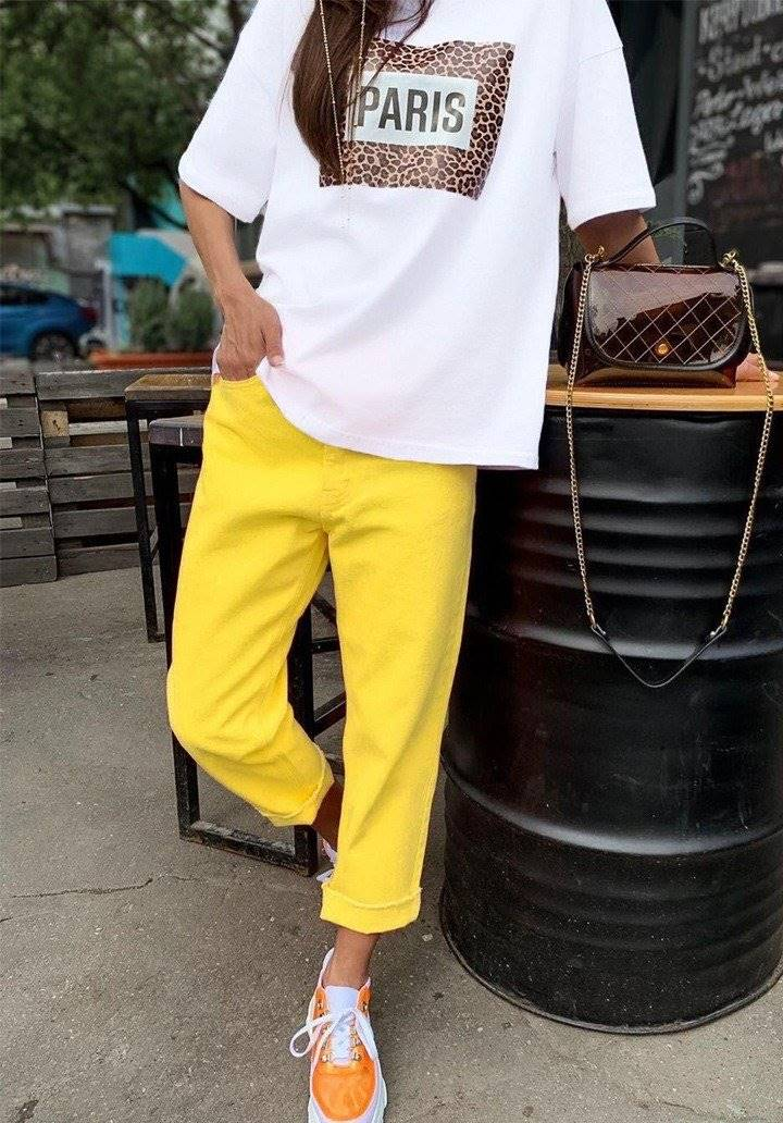 Sarı yeni sezon pantalon