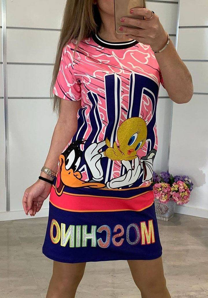 Moschino rengareng yeni sezon elbise