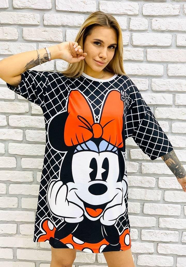 Minnie baskılı spor elbise