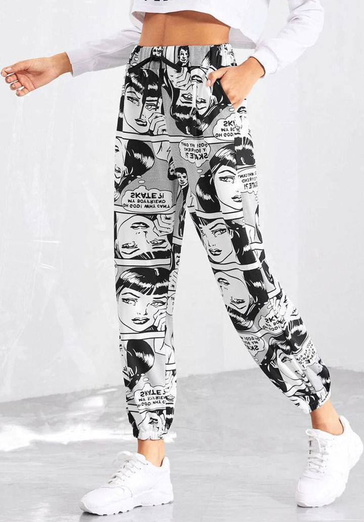 Pop art tasarım pantalon