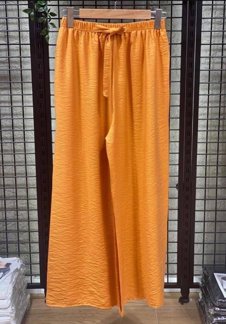 Hardal beli lastikli salaş pantalon