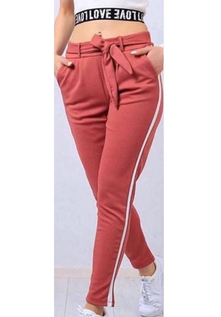 Şeritli cepli yeni sezon pantalon(pudra)