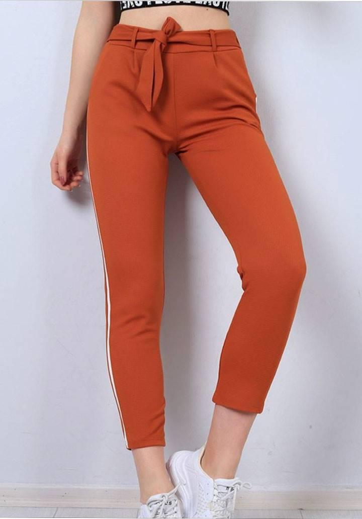Şeritli cepli yeni sezon pantalon(kiremit)