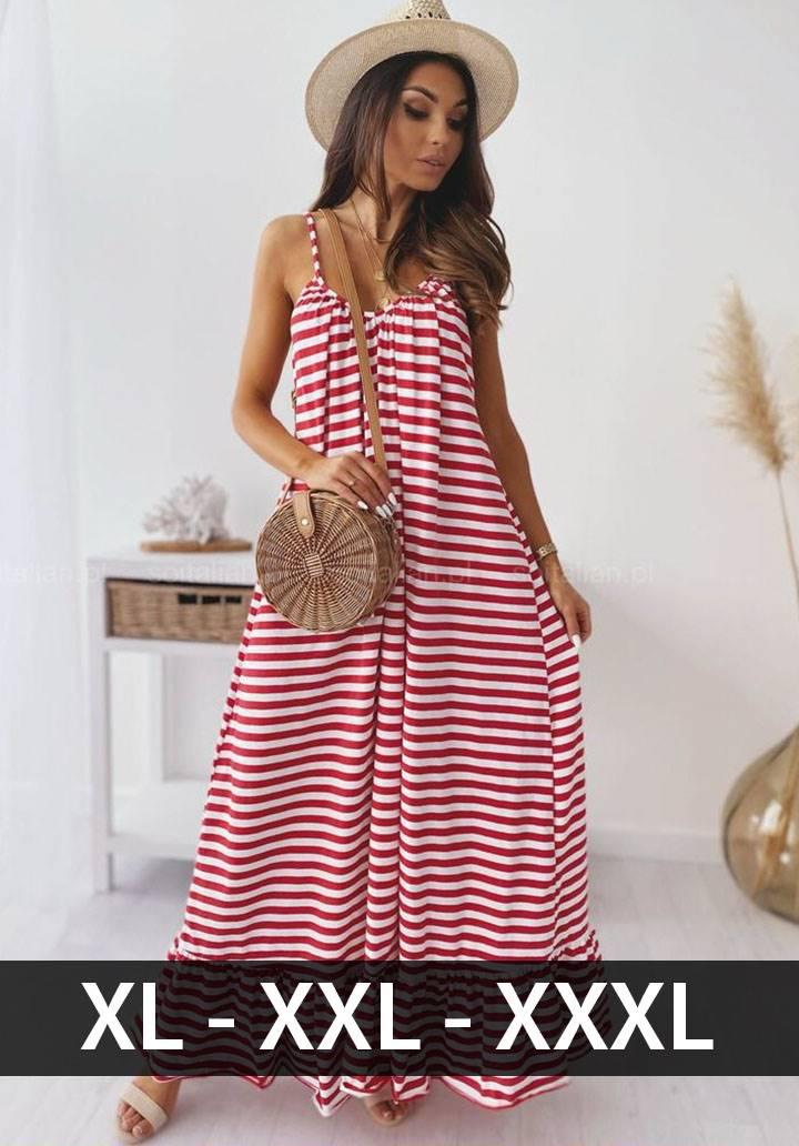 İp askılı eteği volanlı maxı boy elbise(kırmızı)