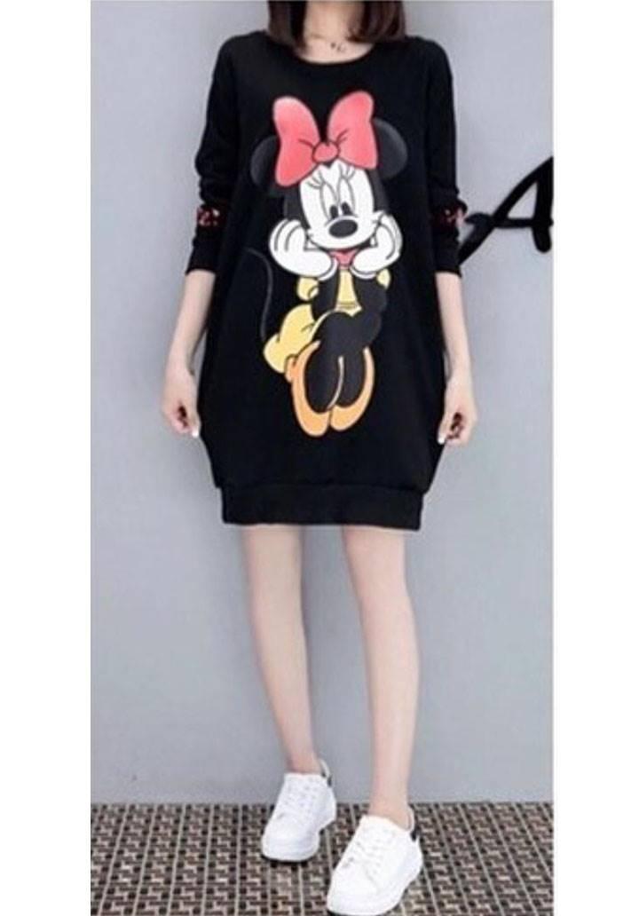 Minnie mause üç iplik sweat elbise
