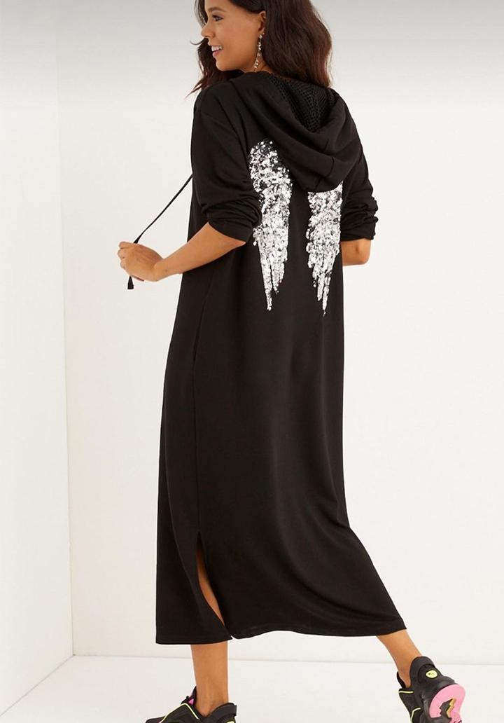 Angel Pul Payet İşleme Sweat Elbise