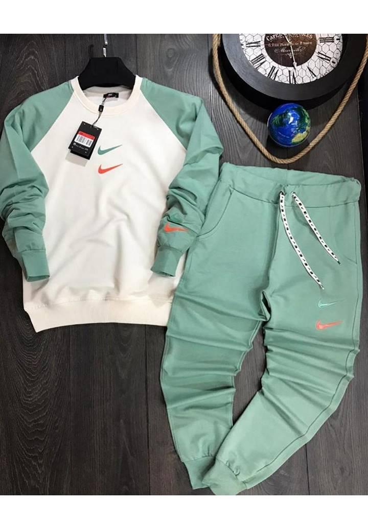 Nıke Kolları Garnili İkili Spor Takım (Mint Yeşil) - 1