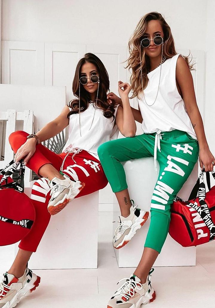 Baskılı Pantolon Bluz Spor Takım (Yeşil)