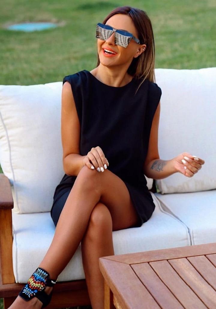 Vatkalı Sandy Mini Elbise (Siyah)