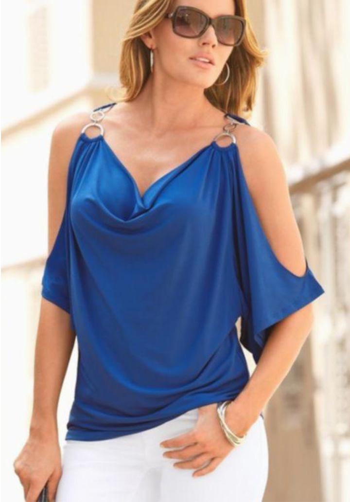 Halka Askı Detay Sandy Bluz (Sax)