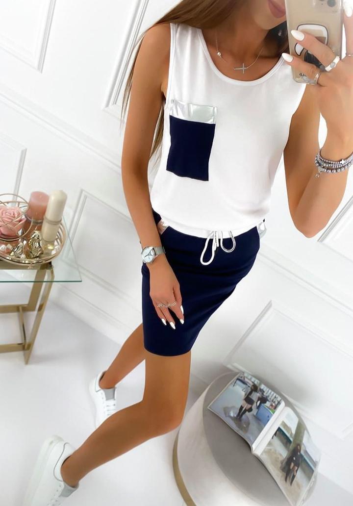 Cep Detay Etek Bluz İkili Takım (Lacivert)