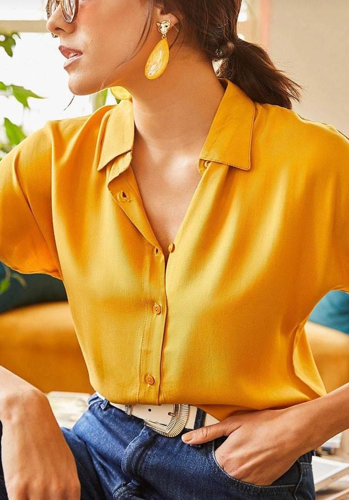 Hardal viscon basic gömlek