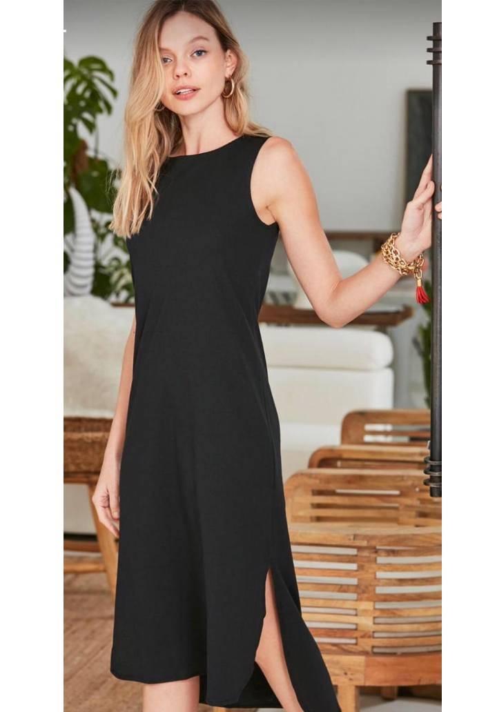 Siyah kolsuz zara model elbise