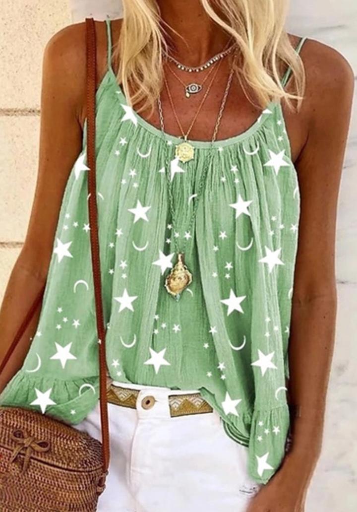 İp Askılı Moon Salaş Bluz (Yeşil)