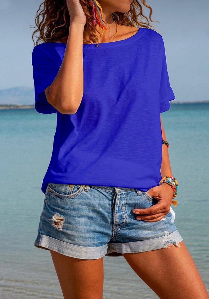 Sırt dekolteli salaş tshirt(sax)