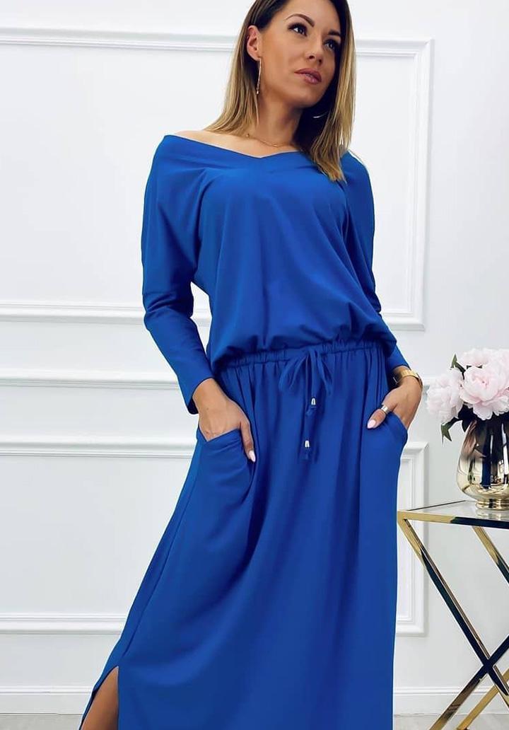 V Yaka Süprem Elbise (Sax)