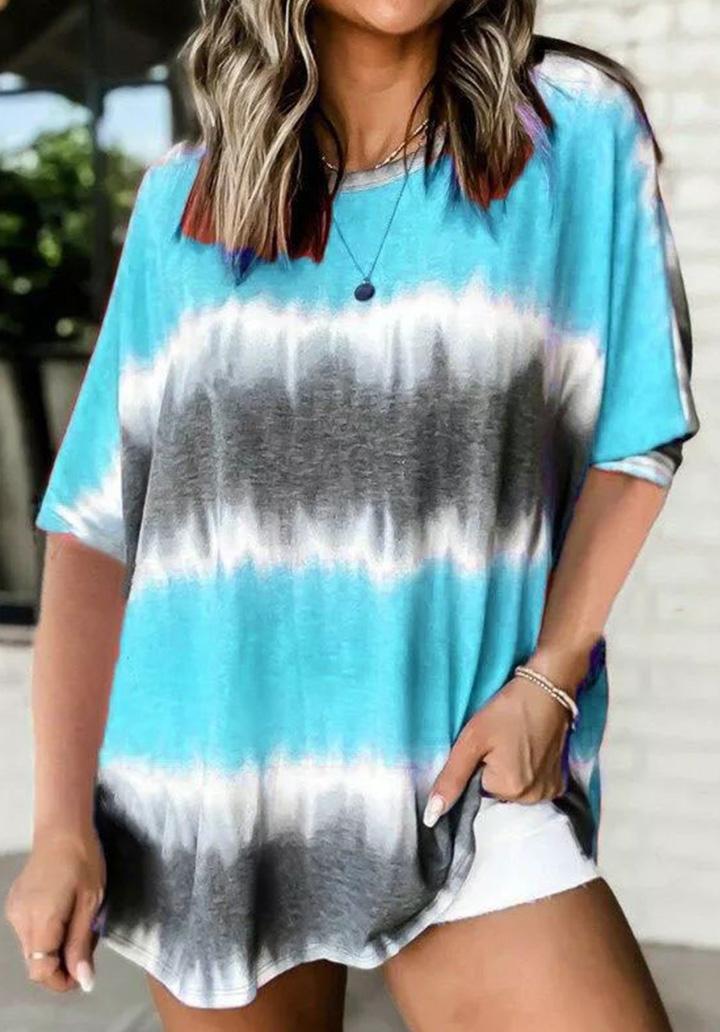 Batik Salaş Yeni Sezon Tshırt (Mavi)