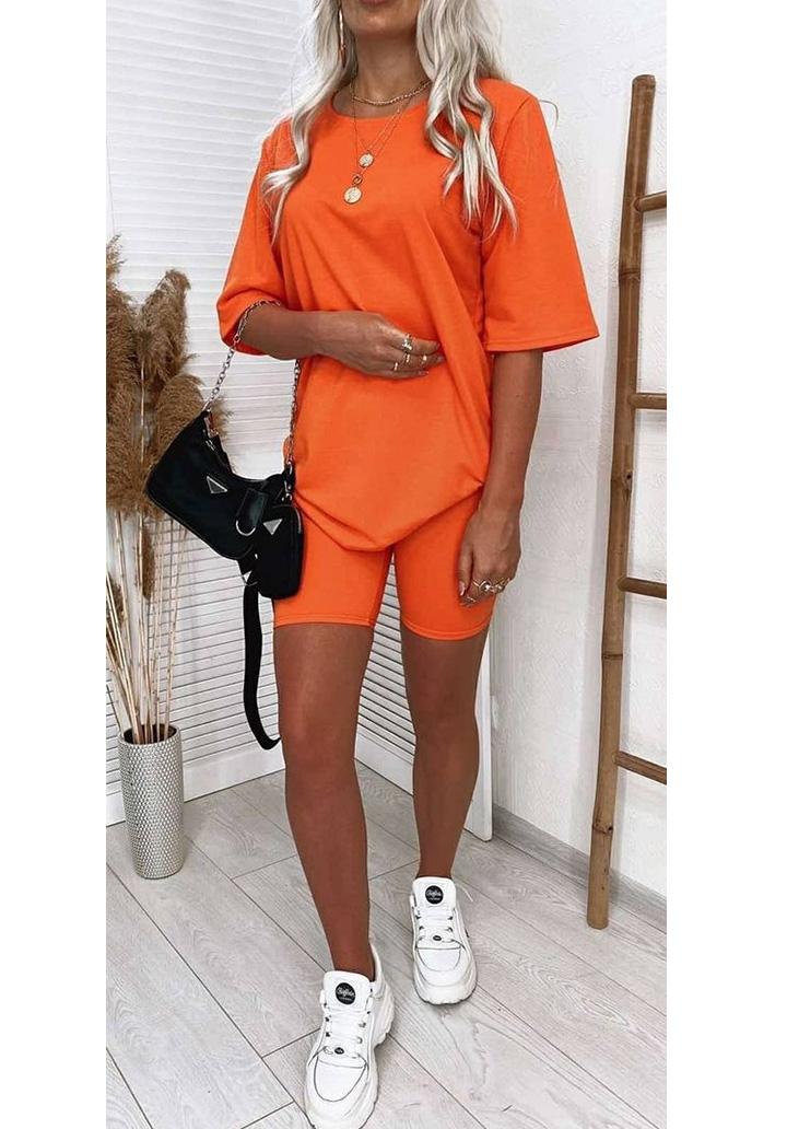 Basic Taytlı İkili Spor Takım (Orange)
