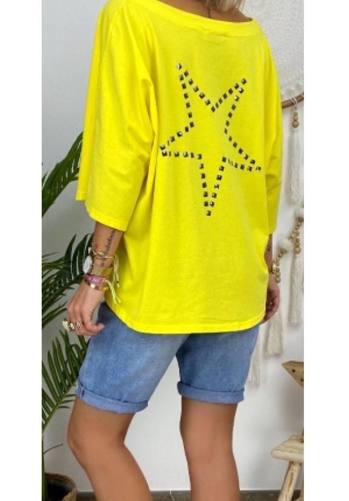 Star salas tasarım bluz(sarı)