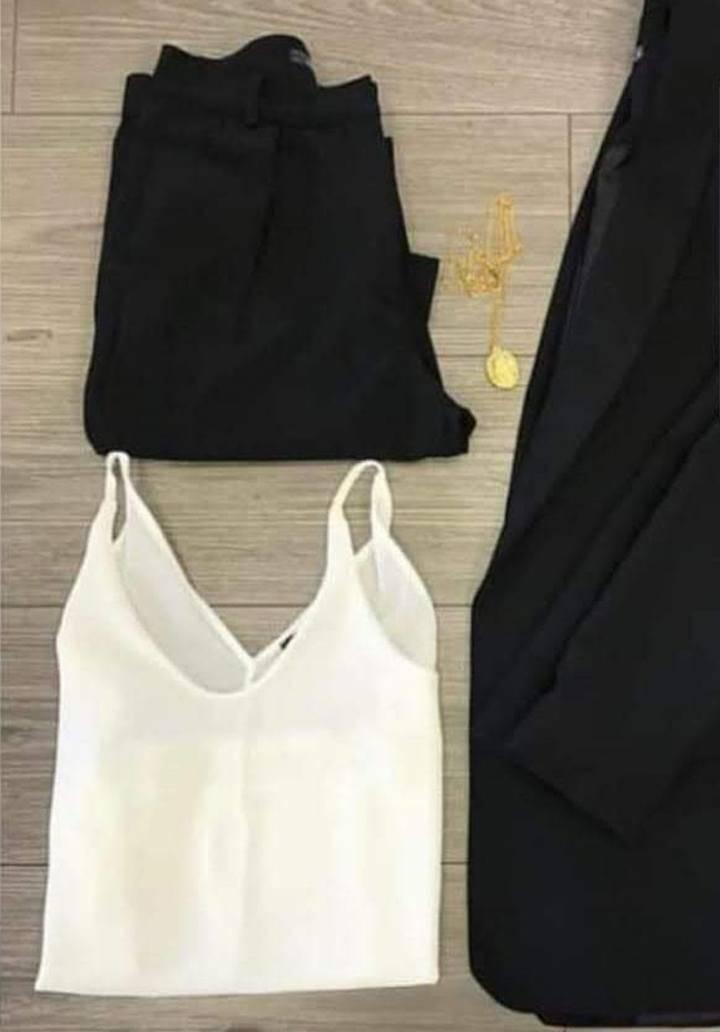 Siyah atlas kumaş takım - 2