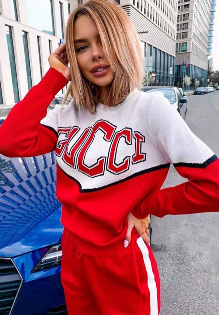 Gucci Bloglu Şeritli İkili takım - 3
