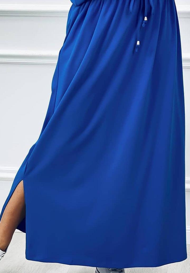 V Yaka Süprem Elbise (Sax) - 2