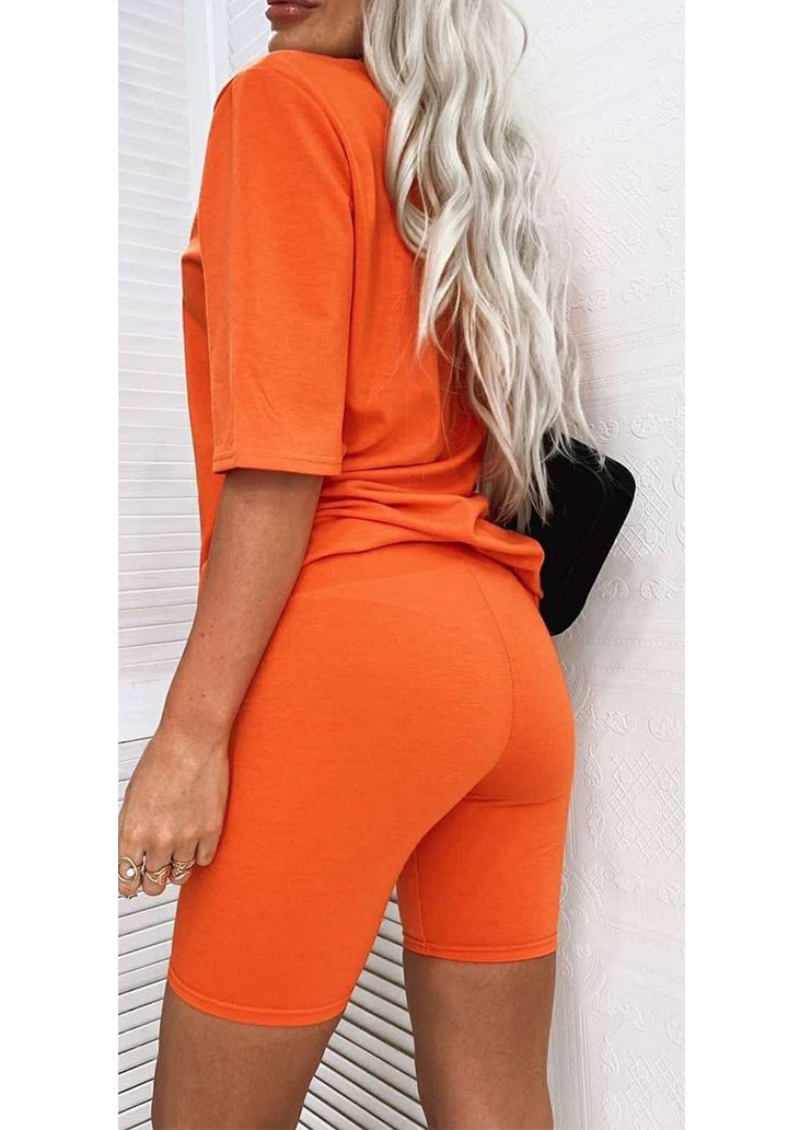 Basic Taytlı İkili Spor Takım (Orange) - 2