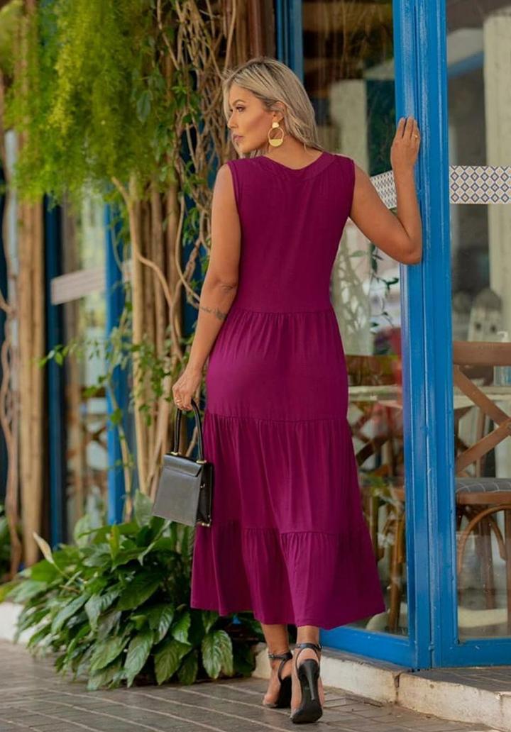 Yaka Detay Kolsuz Süprem Elbise - 3