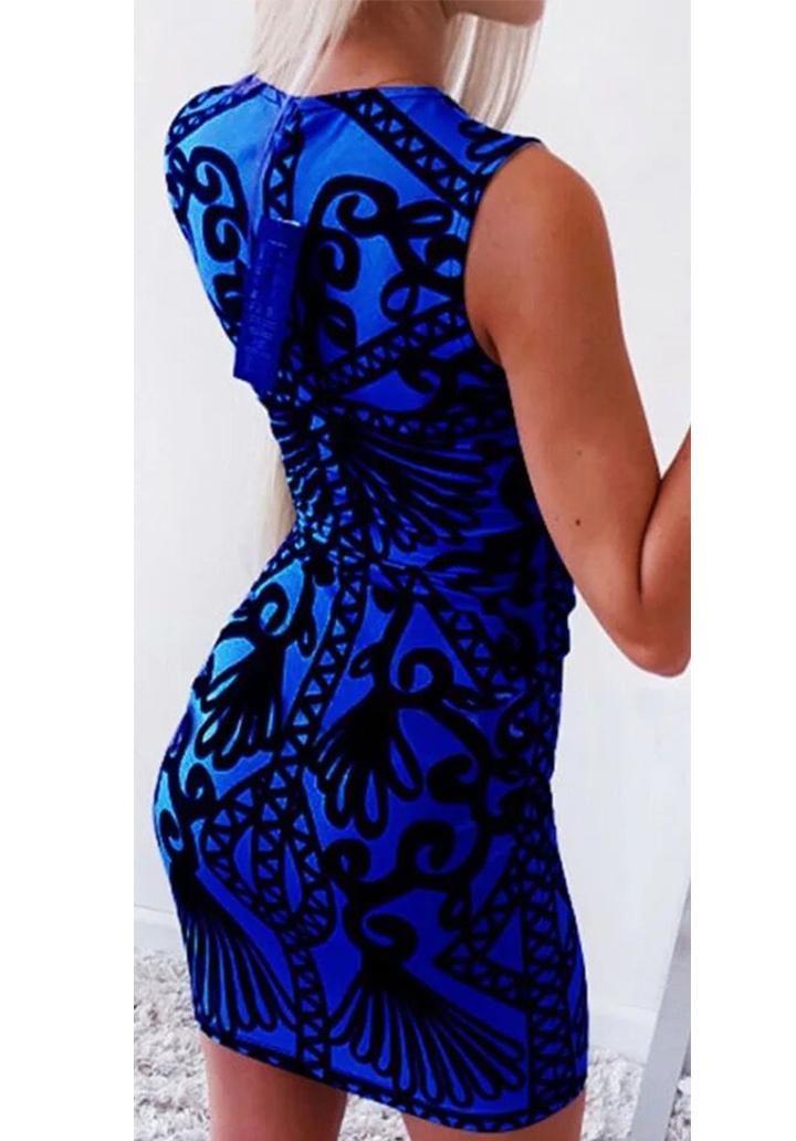 Digital Baskı Etnik Desen Elbise (Sax) - 3