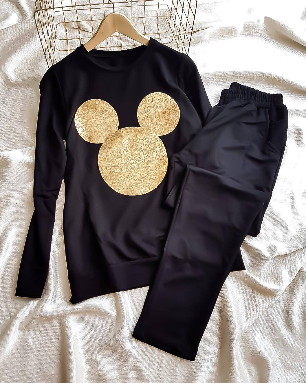 Mickey payetli ikili spor takım - 3