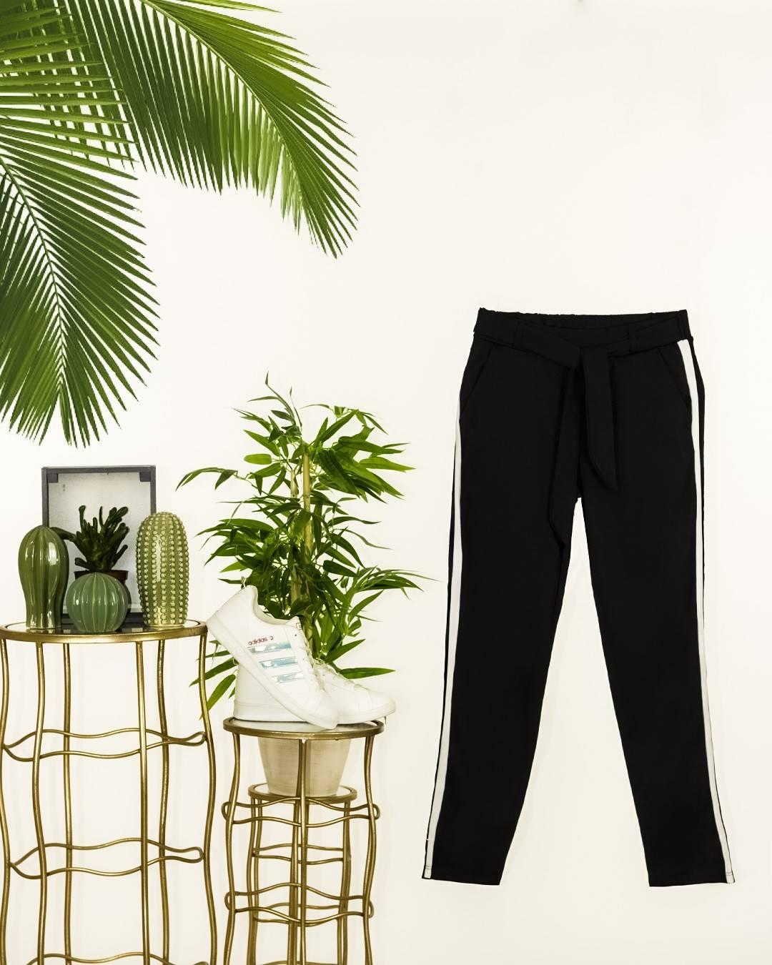 Şeritli cepli yeni sezon pantalon(siyah) - 3