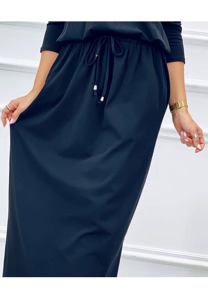 V Yaka Süprem Elbise (Siyah) - 3