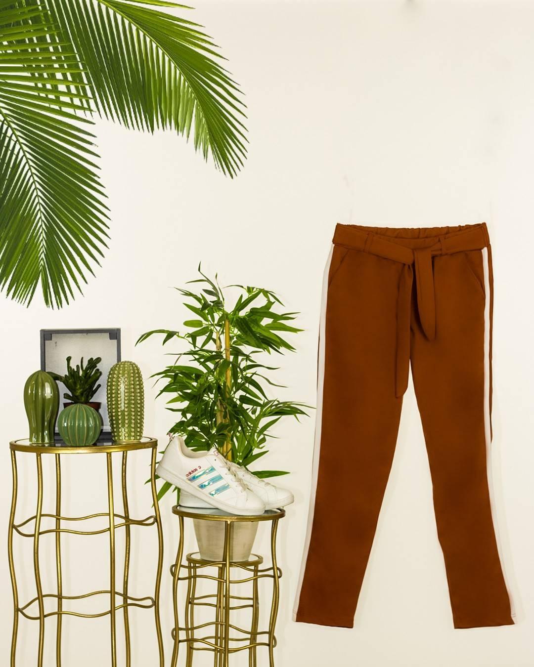 Şeritli cepli yeni sezon pantalon(kiremit) - 4