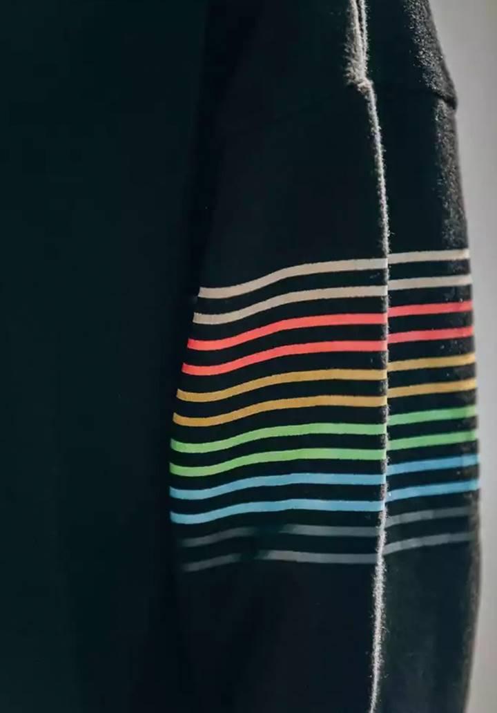 İthal Kadife Renkli Şerit Detay İkili Takım - 4