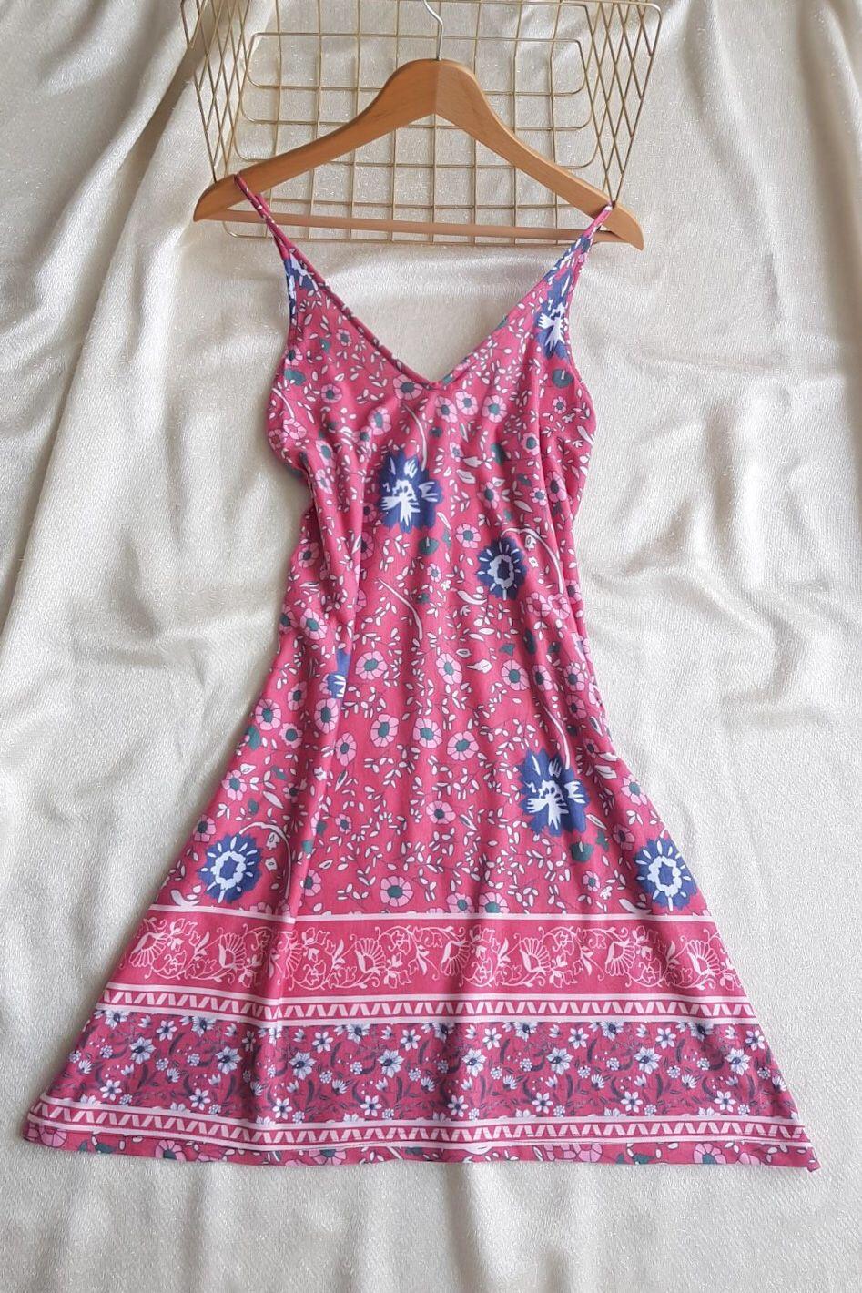 İp Askılı Eteği  Kloş Mini Elbise - 4